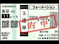 2014年安田記念三連単37万3470円的中!